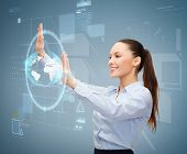 stock photo of hologram  - business and future technology concept  - JPG