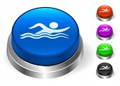 Swimming Icons on Round Button Collection