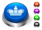 Crown Icons on Round Button Collection