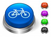 Bicycle Icons on Round Button Collection