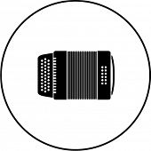 stock photo of accordion  - diatonic accordion symbol - JPG