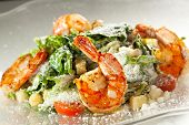 foto of caesar salad  - Seafood Caesar Salad with Shrimps - JPG