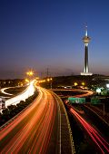 stock photo of tehran  - Night shot from Tehran Capital of Iran - JPG