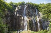 Постер, плакат: Large Waterfall In Croatia