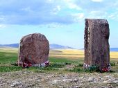 stock photo of megaliths  - Ritual megalithic stones - JPG