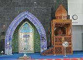 Mihrab of Masjid Kolej Islam Pahang Sultan Ahmad Shah (KIPSAS) poster