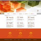 Website Template with Abstract Header Design - Colorful Mosaic Pattern