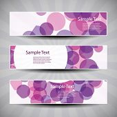 Banner or Header Design with Abstract Blue Pattern