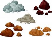 stock photo of quartz  - Vector illustration of Stone and rock cartoon collection - JPG