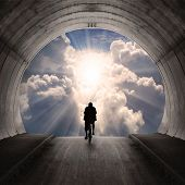 pic of gates heaven  - Light at end of the tunnel - JPG