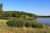 picture of siberia  - Two banks of the lake in Siberia - JPG