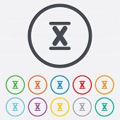 pic of ten  - Roman numeral ten sign icon - JPG