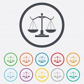 stock photo of tribunal  - Scales of Justice sign icon - JPG