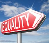 picture of equality  - equality no difference equal rights and opportunities no discrimination  - JPG