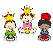 image of three kings  - three kings vector card - JPG