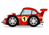 stock photo of muscle-car  - Funny old sports car - JPG