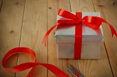 picture of gift wrapped  - Gift wrapping scene - JPG