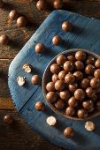 image of malt  - Dark Chocolate Malted Milk Balls in a Bowl - JPG