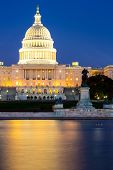 stock photo of capitol building  - US Capitol Building at dusk - JPG