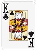 Постер, плакат: Jumbo index king of clubs playing card