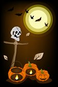 picture of skull cross bones  - Halloween Background of Jack - JPG