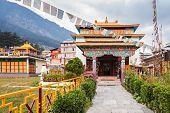 stock photo of tibetan  - Tibetan monastery in Manali village Himalaya India - JPG