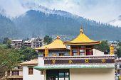 foto of tibetan  - Tibetan monastery in Manali town Himalaya India - JPG