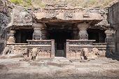 picture of ellora  - Ellora caves near Aurangabad Maharashtra state in India - JPG