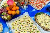 stock photo of catering  - Catering food at a party - JPG