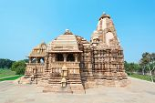 foto of jain  - The Khajuraho Group of Monuments are a group of Hindu and Jain temples in Madhya Pradesh India - JPG