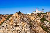 picture of lagos  - Lighthouse at Ponta da Piedade in Lagos Algarve region in Portugal