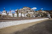 picture of tibetan  - Thiksey Monastery is a Tibetan Buddhist monastery in Ladakh India - JPG