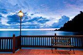 image of langkawi  - Sunset on the seashore of Langkawi Island - JPG