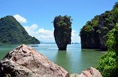 stock photo of james bond island  - Khao Phing Kan is an island in Thailand - JPG