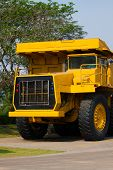 foto of mines  - Heavy mining truck in mine and driving along the opencast - JPG