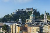 picture of mozart  - The Salzburg Cathedral  - JPG