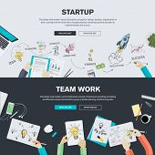 image of team  - Set of flat design illustration concepts for business - JPG