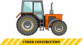 stock photo of heavy equipment  - Detailed illustration of tractor heavy equipment and machinery - JPG