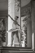 picture of ballerina  - Beautiful young ballerina dancing posing and standing in pointe position - JPG