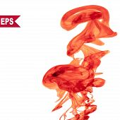pic of holi  - Vector abstract red cloud - JPG