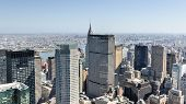 picture of rockefeller  - Aerial view of the New York City skyline.