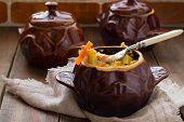 picture of stew pot  - Pots of stew chicken - JPG