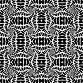 foto of distort  - Design seamless monochrome abstract background - JPG