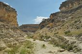 picture of twisty  - Gorge with steep walls. South East Turkey. Leisure and tourism. Climbing the mountain ** Note: Visible grain at 100%, best at smaller sizes - JPG