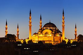 picture of ottoman  - The Suleymaniye Mosque is an Ottoman imperial mosque in Istanbul Turkey - JPG
