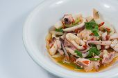 image of squid  - spicy squid salad hot and sour thai food - JPG