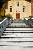 picture of windows doors  - sunny day italy church tradate varese the old door entrance and windows mosaic - JPG