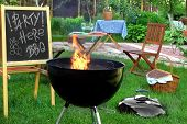 picture of sign board  - Backyard BBQ Grill Party Scene - JPG