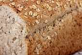 image of whole-wheat  - texture of whole wheat bread sliced closeup - JPG