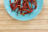 picture of chillies  - Red dried chilli is one of Thai food - JPG